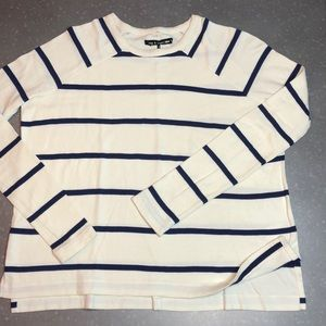 Rag & Bone Pima Cotton Striped Long Sleeve Shirt